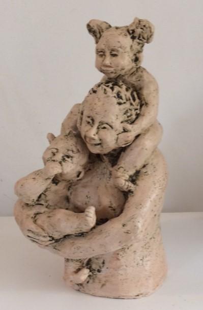 moeder en 2 kids